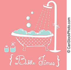Vintage Bathtub  - Vintage Bathtub- Vector File EPS10