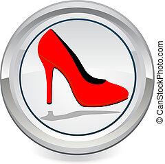 Red high heels EPS10