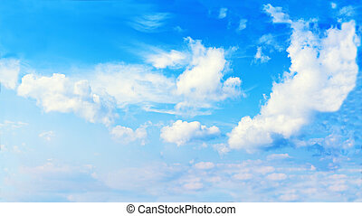 Beautiful view of blue sky and clouds.