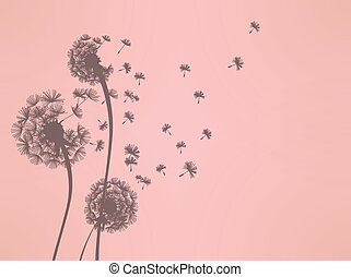 Dandelion Vector File EPS10