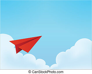 Paper Plane in The Sky