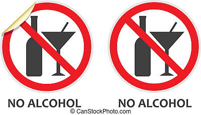 No Alcohol Sign - No alcohol signs in two vector styles...