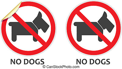 No Dogs Sign - No dogs or animals signs in two vector styles...