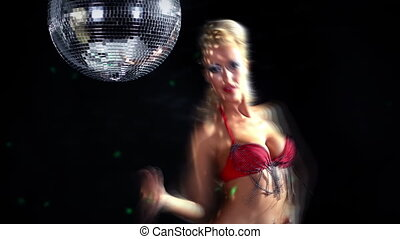 sexy professional gogo lily malibu shot dancing and next to...
