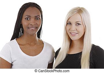 europe, afrikansk, kvinna