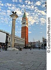 St. Mark's, square in Venice.