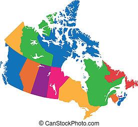 Canada, kaart