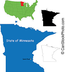 Minnesota map - State of Minnesota, USA