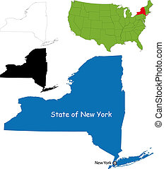 New york map - State of New York, USA