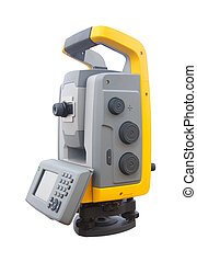 The total station , The geodetic and topography measuring...