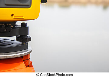 The total station. The geodetic and topography measuring tool
