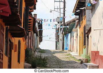 San Cristobal - Colorful architecture typical of San...