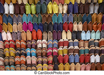 Shopping for Moroccan Slippers