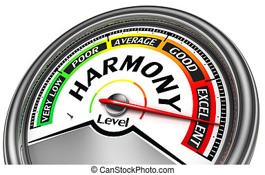 harmony conceptual indicator isolated on white background
