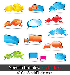 Speech bubbles. Set of hight quality vector 3d element.