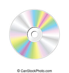 CD. Realistic vector illustration in colorful. Color design...
