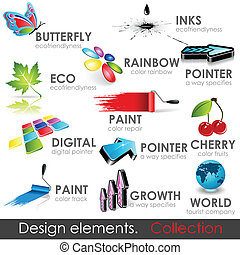 Design elements collection. Vector high quality 3d icons.