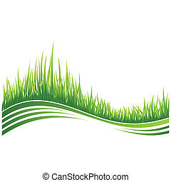 Green grass - Vector illustration of green grass wave...