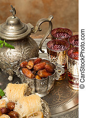 Dates and tea for Ramadan - Traditionally dates are eaten at...