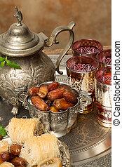 dates, thé, Ramadan