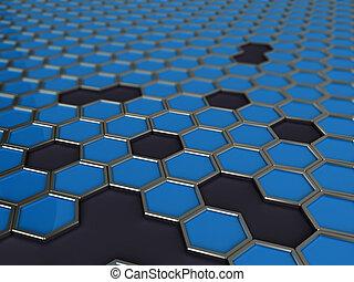 mosaic of hexagons