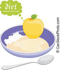 Diet of three products Vector illustration