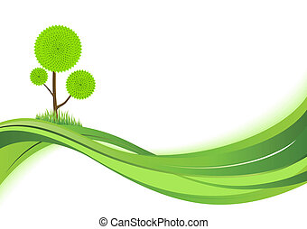 Nature background. Abstract green vector illustration with...