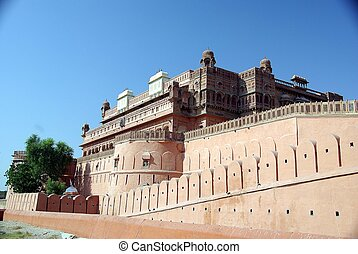 Bikaner fort, Rajasthan - The fort of Bikaner in Rajasthan,...