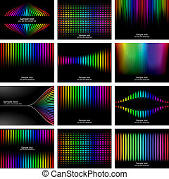 Abstract rainbow bark colour background collection. Vector...
