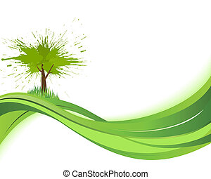 Natare background. Eco concept. Abstract green vector...