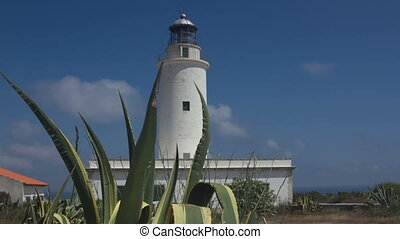 timelapse of the la mola lighthouse in formentera