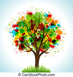 Tree. Concept vector illustration for your design.