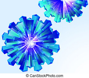 Abstract, crystal, floral, EPS10 - vector graphics