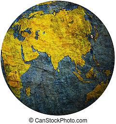 south korea on globe map