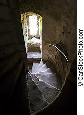 staircase of Doune Castle, Stirlingshire, Scotland
