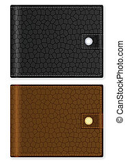 wallet - Wallet on a white background. Vector illustration.