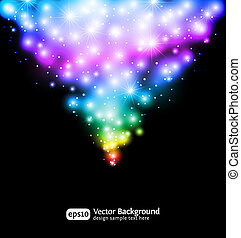 Winter snow and star background. Eps 10 color gradient...