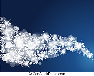 Winter Snowflake Background. Swirls of snow flakes leading....