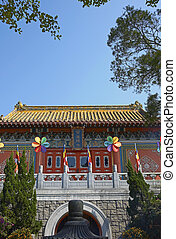 Po Lin Monastery - Po Lin Buddhist Monastery located on...