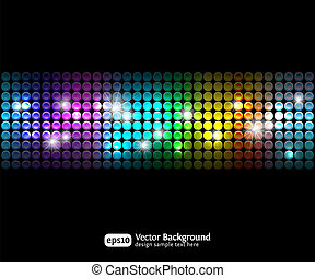 Black party abstract background with color gradients 2...