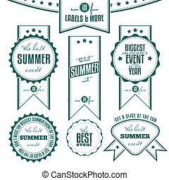 Set of vintage summer themed labels - Collection of summer...