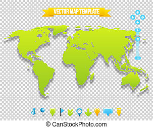 Vector Map Template. Travel Earth Design.