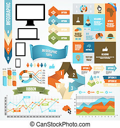 Infographic Icon and Element Collection. Vector...