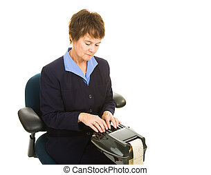 Court Reporter Working - Professional court reporter working...