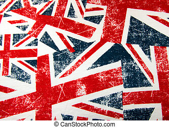 Union Jack flag montage Background - British Union Jack flag...