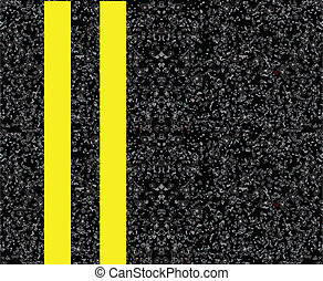 Double yellow centerline - Road markings on the pavement...