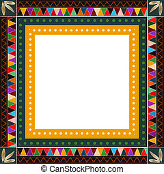 American Indian border - Native American Indian motif border...