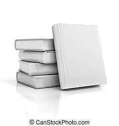 books with blank covers  3d illustration