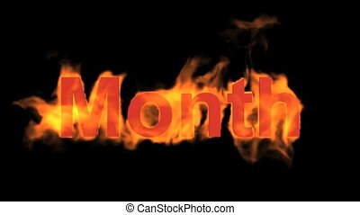 flame month word.