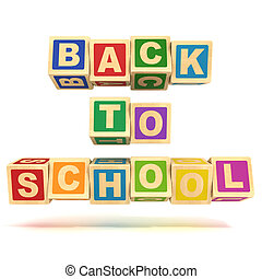 back to school letter cubes